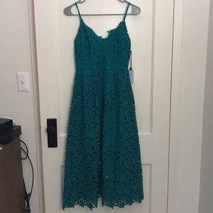 NWT ASTR The Label Lace Dress Green SZ M